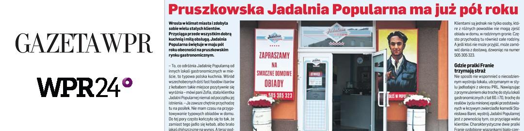 MEDIA O NAS DOBRZE PISZĄ – GAZETA WPR i SERWIS WPR24.